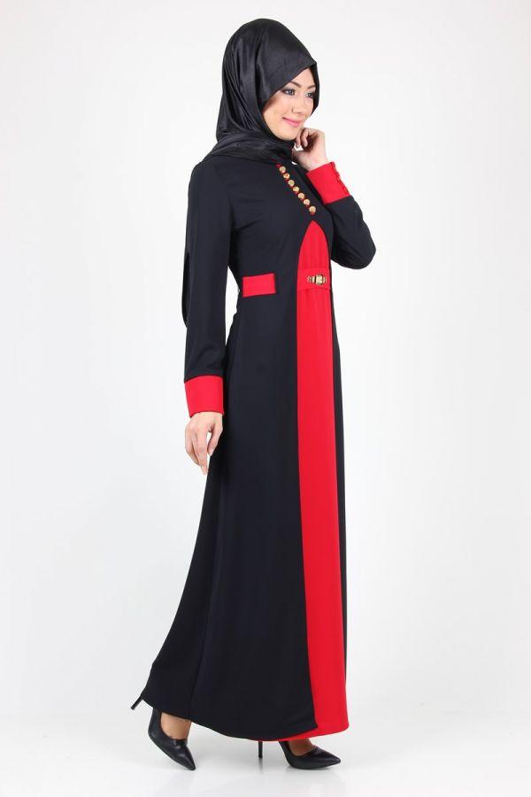 duru-cift-renkli-elbise-32290-siyahkirmizi-50506-92-B